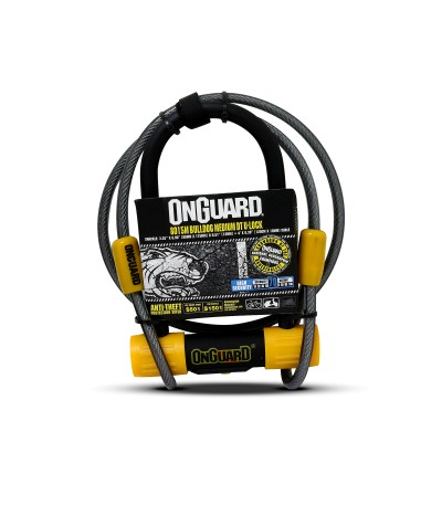 CANDADO ONGUARD BULLDOG MEDIUM ULOCK CON CABLE
