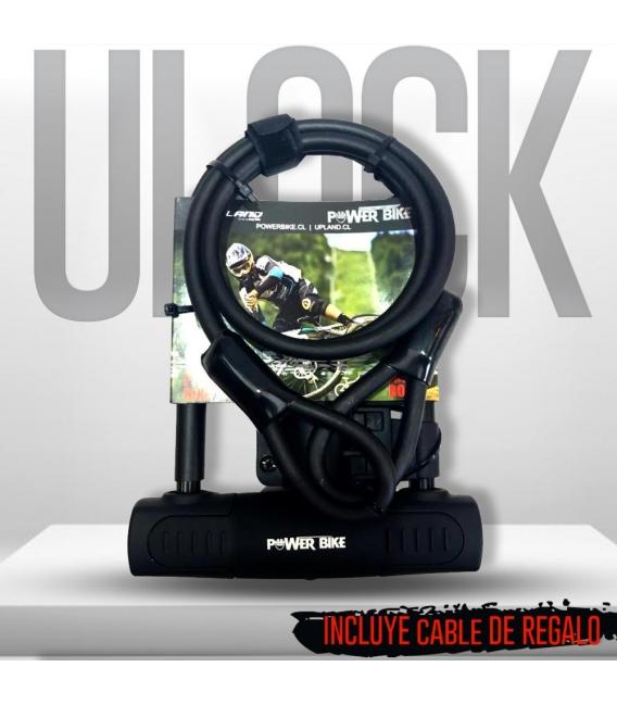 CANDADO ULOCK POWERBIKE + CABLE DE SEGURIDAD
